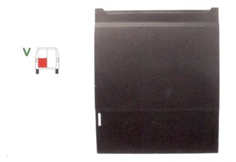 Element reparatie usa Mercedes 207-410, 1977-1995 (pt modele cu 2 usi spate), partea stanga, usa spate, pana la geam,