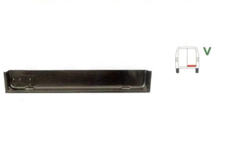 Element reparatie usa Mercedes 207-410, 1977-1991 pt modele cu 2 usi spate, partea dreapta, cu o nervura,jgheab,usa spate, parte inferioara,
