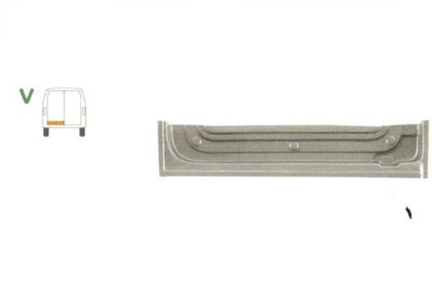 Element reparatie usa Mercedes SPRINTER 208-416 (W901-905), 01.1995-2006, VW LT II 05.1996-12.2005 (pt modele cu 2 usi spate), partea stanga, parte inferioara, usa spate, jgheab,inaltime 180mm,
