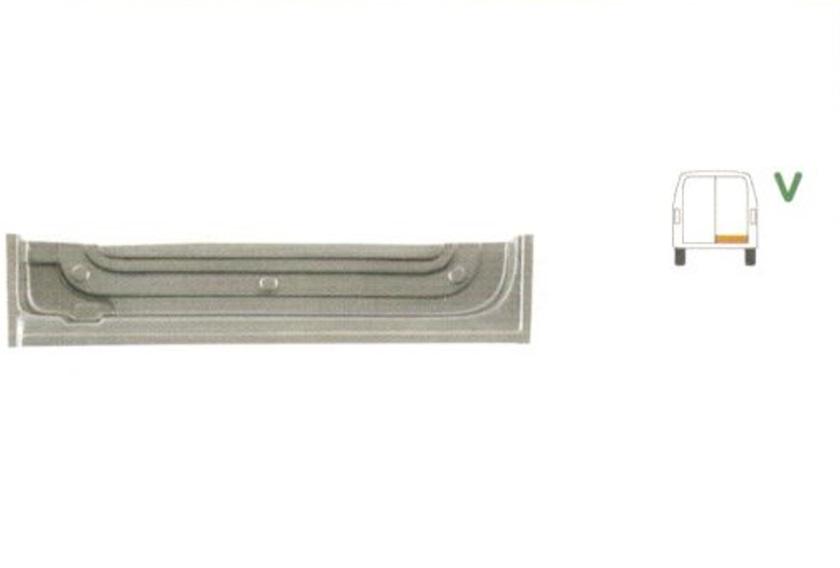 Element reparatie usa Mercedes SPRINTER 208-416 (W901-905), 01.1995-2006, VW LT II 05.1996-12.2005 (pt modele cu 2 usi spate), partea dreapta, parte inferioara, usa spate, jgheab,inaltime 175 mm,