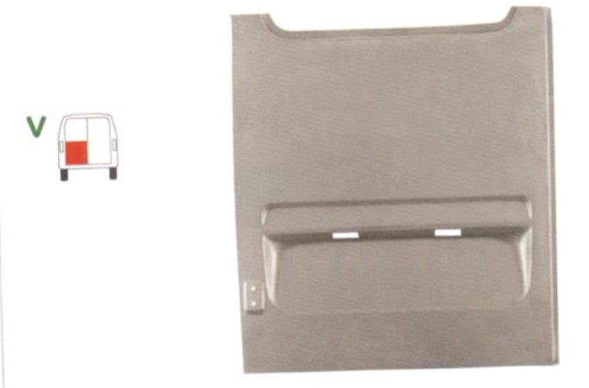 Element reparatie usa Mercedes SPRINTER 208-416 (W901-905), 01.1995-2006, VW LT II 05.1996-12.2005 (pt modele cu 2 usi spate), partea stanga, usa spate pana la geam,