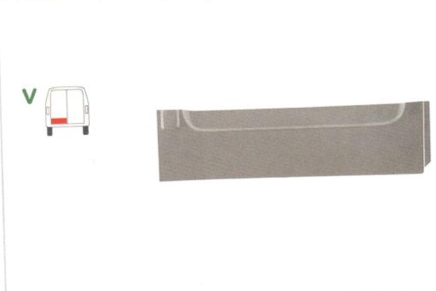Element reparatie usa Mercedes SPRINTER 208-416 (W901-905), 01.1995-2006, VW LT II 05.1996-12.2005 (pt modele cu 2 usi spate), partea stanga, usa spate, inaltimea 20 cm, parte inferioara,