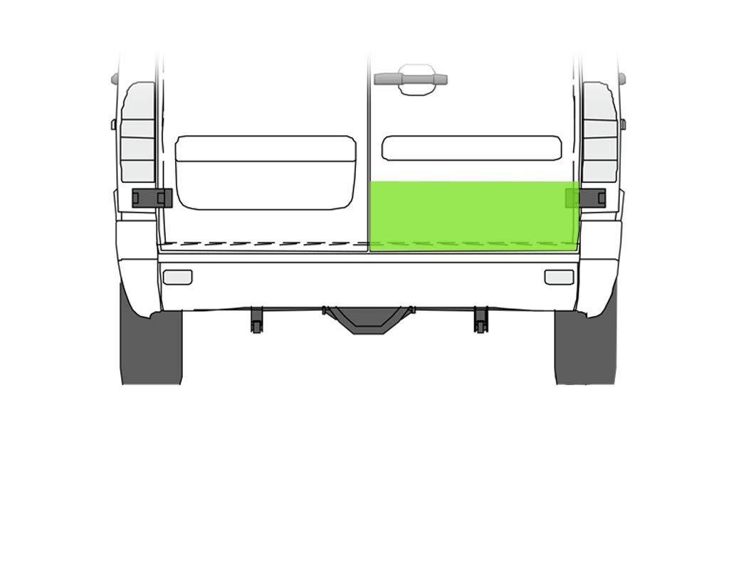 Element reparatie usa Mercedes SPRINTER 208-416 (W901-905), 01.1995-2006, VW LT II 05.1996-12.2005 (pt modele cu 2 usi spate), partea dreapta, usa spate, inaltimea 20 cm, parte inferioara,