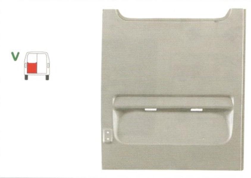 Element reparatie usa Mercedes SPRINTER 208-416 (W901-905), 01.1995-2006, VW LT II 05.1996-12.2005 (pt modele cu 2 usi spate), partea stanga, usa spate, FARA gauri manere usi, pana la geam,