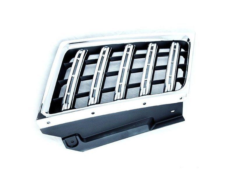 Grila radiator Mitsubishi L200/Triton, 04.2010-2015, dreapta, crom/gri, 7450A570, 528405-2