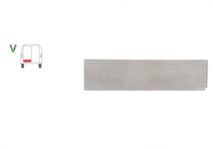 Panou reparatie usa Citroen JUMPER (230), 06.1994-08.2006, Fiat DUCATO (230), 03.1994-09.2006, Peugeot BOXER (230), 06.1994-08.2006 partea stanga, parte inferioara; usa spate ; inaltimea 20 cm (modele cu 2 usi spate),