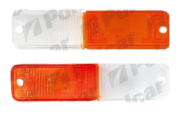 Dispersor lampa semnalizare fata cu pozitie Fso Polonez 01.1978-12.2002 Daewoo LUBLIN II 05.1997- Aftermarket, Alb - Orange partea dreapta