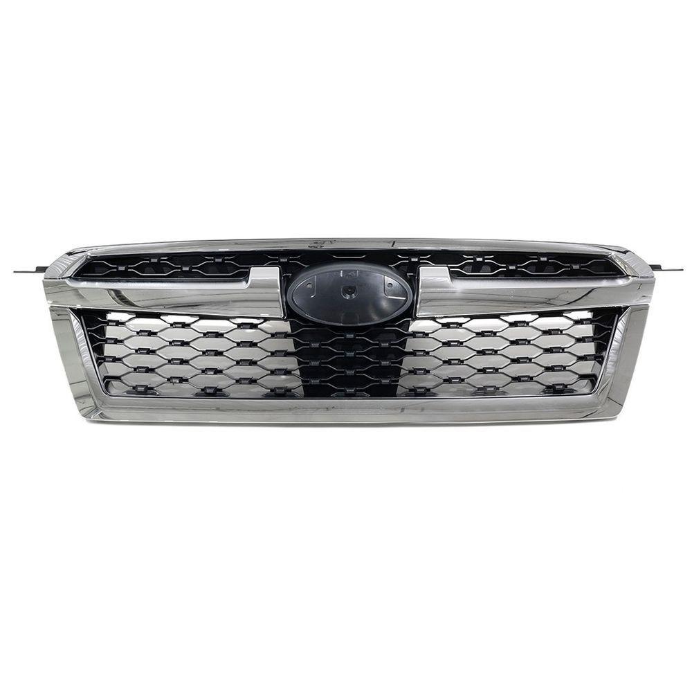 Grila radiator, masca fata Subaru Legacy (Bm/Br), 2013-12.2014, parte montare centrala, cu ornament cromat, crom/negru, 720905-7, Aftermarket