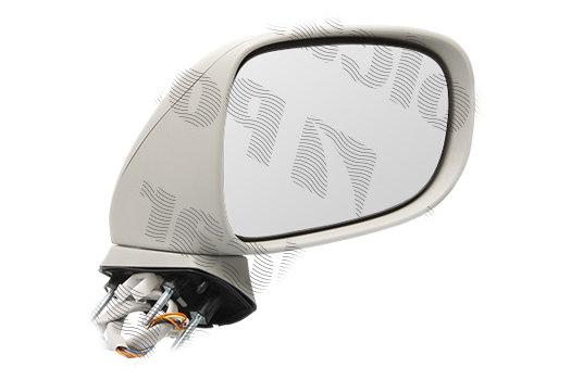Oglinda exterioara Lexus Is (Xe2), 11.2005-03.2009, partea Dreapta, culoare sticla crom, sticla convexa, cu carcasa neagra grunduita, cu incalzire , ajustare electrica, 8791053220; 87910-53220