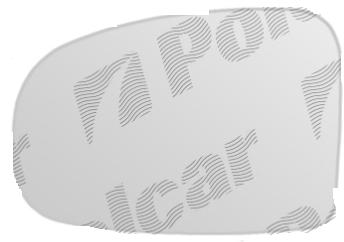 Geam oglinda exterioara Toyota IQ (Aj1) 2009-, Toyota Prius+ (Xw30), 01.2012-, Prius (XW30) 05.2009-01.2016, Toyota Verso-S, 03.2011-, Partea Dreapta Crom Convex Cu Incalzire