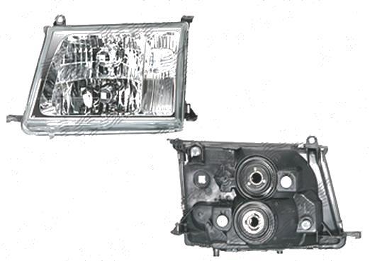 Far Toyota Land Cruiser (FJ100) 01.1998-04.2005 DEPO partea Dreapta, tip bec HB3+HB4 manual, cu lentile din sticla