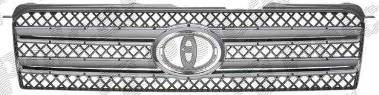 Grila radiator Toyota Highlander, 01.2001-01.2007, crom/gri, 5211948930, 819305-2