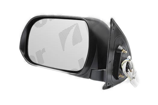 Oglinda exterioara Toyota Hilux (N70), 01.2012-, partea Stanga, culoare sticla crom, sticla convexa, cu carcasa neagra, ajustare electrica, , 81P1515E