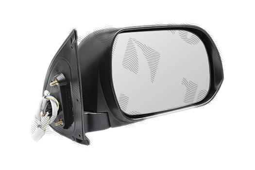 Oglinda exterioara Toyota Hilux (N70), 01.2012-, partea Dreapta, culoare sticla crom, sticla convexa, cu carcasa neagra, ajustare electrica, , 81P1525E