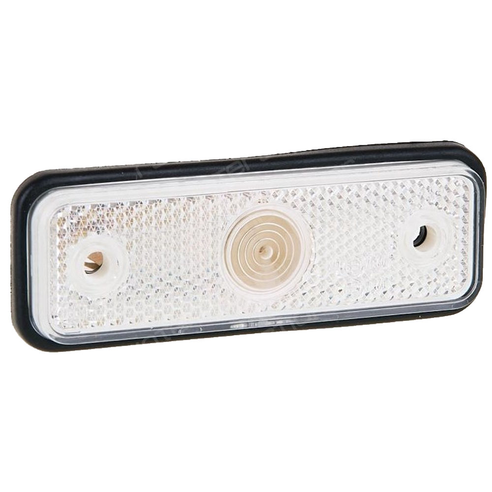 Lampa semnalizare auto Aftermarket 12/24V dreptunghiulara Alba, cu suport bec, 95x30mm, 1 buc.