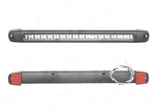 Lampa stop frana Aftermarket suplimentara 12V 333x30x32mm cu leduri albe, fixare cu banda adeziva , 1 buc.