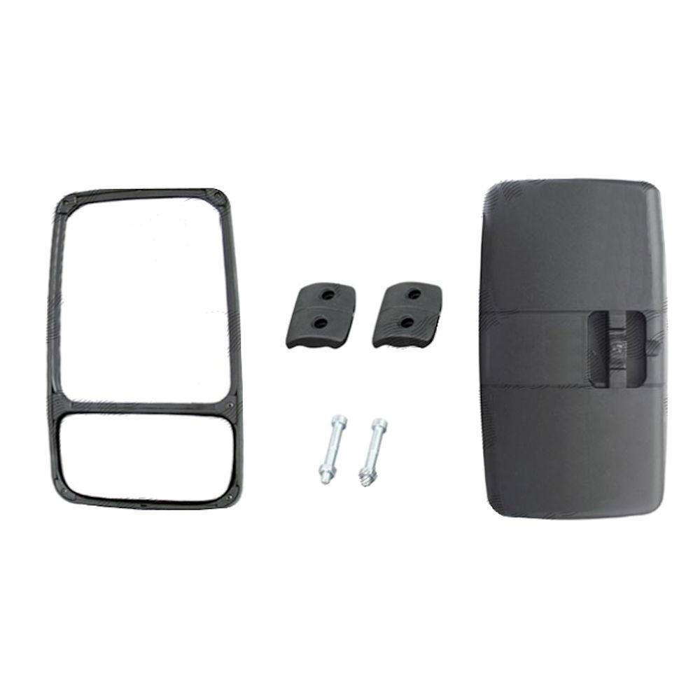 Oglinda retrovizoare exterioara Tir Partea Dreapta Geam Impartit Manuala Fara Incalzire 330X185mm pentru brat fi 20/32mm, oglinda mica se regleaza separat