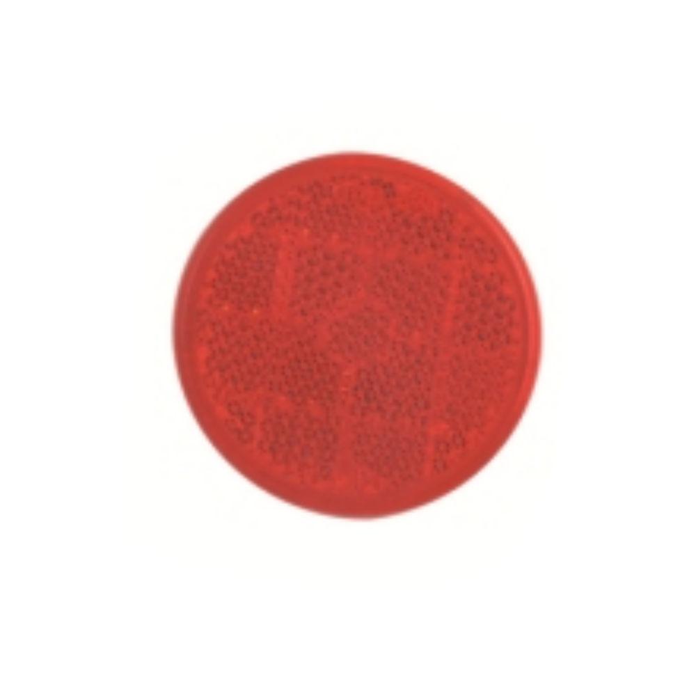 Catadioptru reflectorizant rotund rosu universal Aftermarket, fixare cu surub, 59 mm , 1 buc.