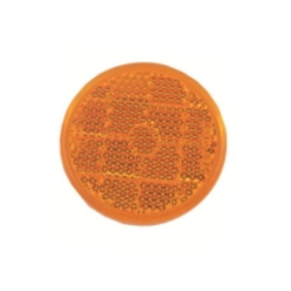 Catadioptru reflectorizant rotund Portocaliu universal Aftermarket, fixare cu banda adeziva, 50 mm , 1 buc.