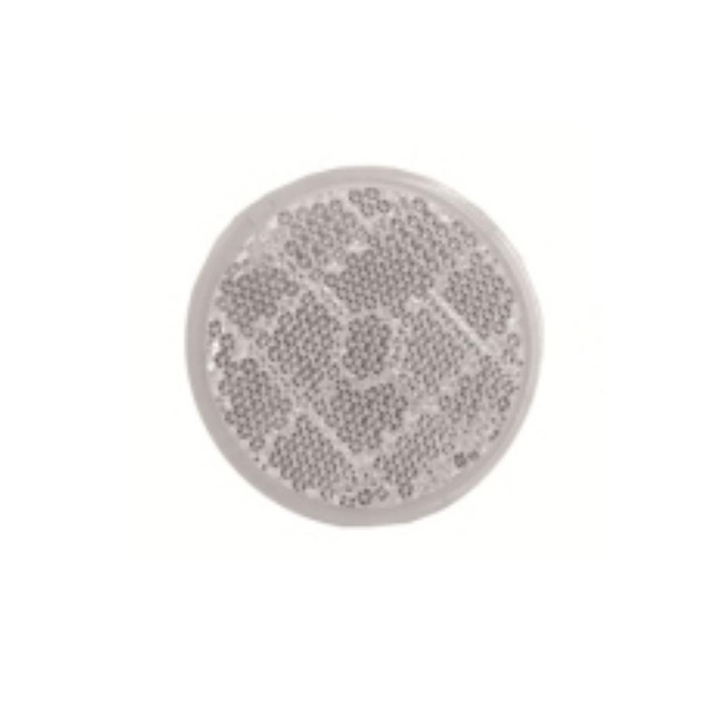 Catadioptru reflectorizant rotund alb universal Aftermarket, fixare cu surub , 50 mm , 1 buc.
