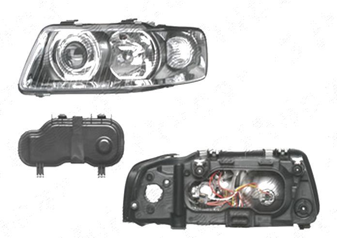 Far Audi A3 (8l), 01.2000-04.2003, fata, Stanga, H1+H7+PY21W+W5W; manual/electric; fara motoras, DEPO