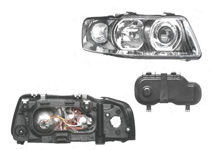 Far Audi A3 (8l), 01.2000-04.2003, fata, Dreapta, H1+H7+PY21W+W5W; manual/electric; fara motoras, DEPO