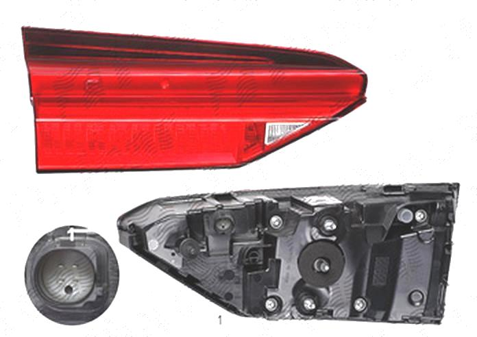 Stop spate lampa Audi A6 (C8), 03.2018-, spate, Stanga, partea interioara; LED; fara ornament, ULO