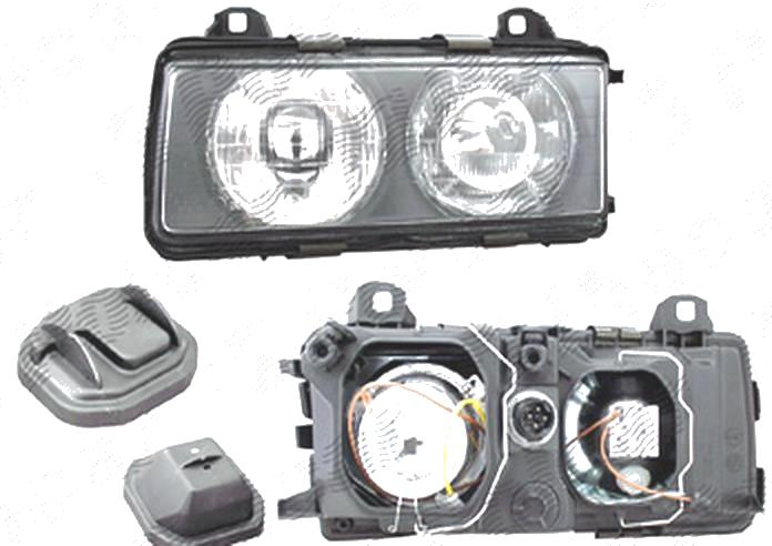 Far Bmw Seria 3 (E36), 12.1990-12.1994 (Fara Compact), fata, Stanga, H1+H1+W5W; manual/electric; fara motoras, DEPO