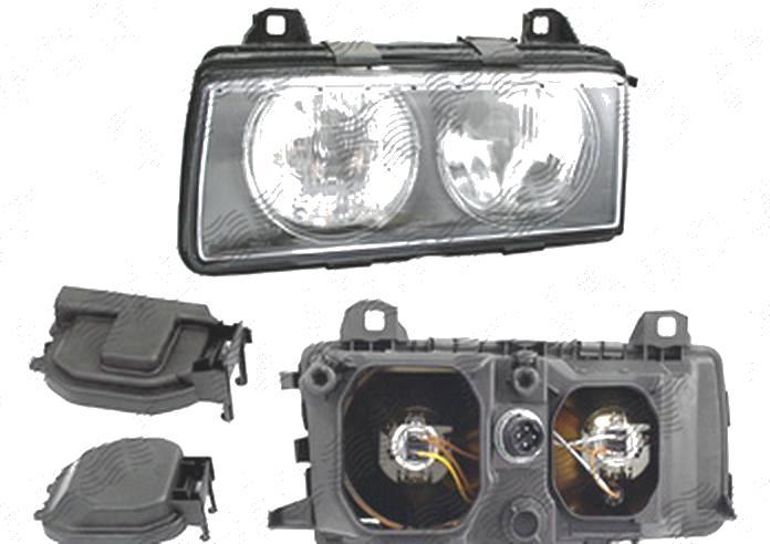 Far Bmw Seria 3 (E36), 1995-03.2000 (Fara Compact), fata, Stanga, H7+H7+W5W; manual, DEPO
