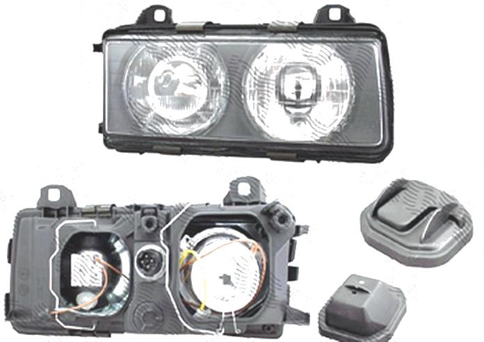 Far Bmw Seria 3 (E36), 12.1990-12.1994 (Fara Compact), fata, Dreapta, H1+H1+W5W; manual/electric; fara motoras, DEPO