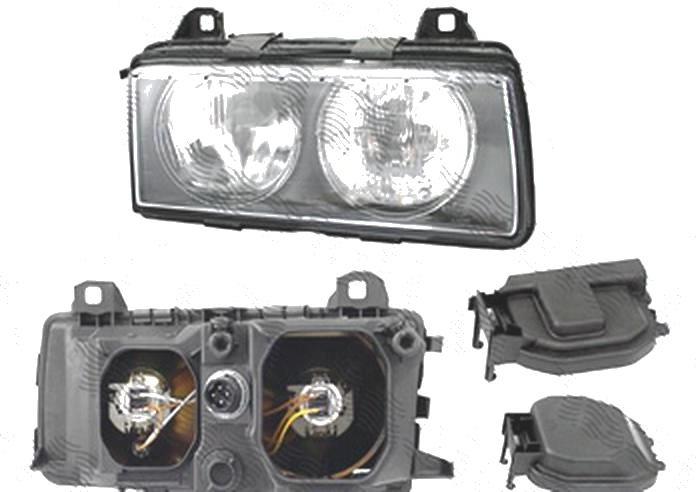 Far Bmw Seria 3 (E36), 1995-03.2000 (Fara Compact), fata, Dreapta, H7+H7+W5W; manual, DEPO