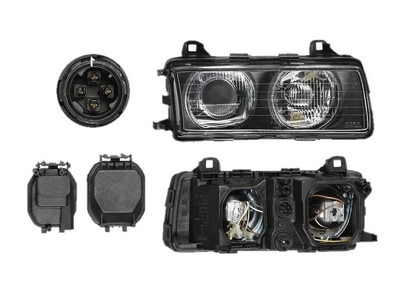 Far Bmw Seria 3 (E36), 1995-03.2000 (Fara Compact), fata, Dreapta, lense; H1+H1+W5W; manual/electric; fara motoras, DEPO