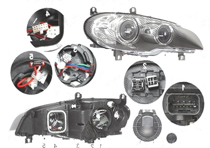 Far Bmw X5 (E70), 04.2010-11.2013, fata, Dreapta, bi-xenon; D1S+LED+PY24W; electric; fara unitate control; fara ballast; cu motor, DEPO