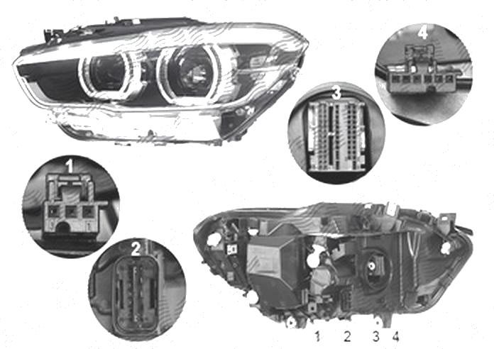Far Bmw Seria 1 (F20), 05.2015-, fata, Stanga, cu LED daytime running light; LED; electric; cu motor;