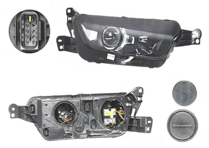 Far Citroen C4 Picasso, 06.2013-, fata, Dreapta, Grand, xenon; D5S+H7; electric; cu motor, AL (Automotive Lighting)