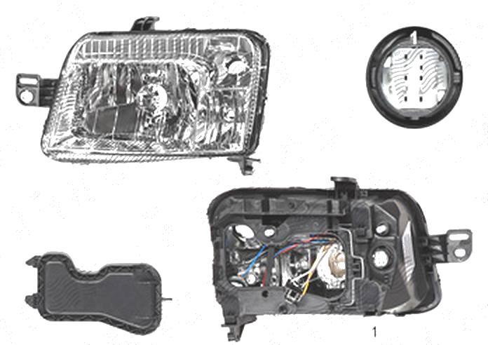 Far Fiat Panda (169), 09.2003-12.2012, fata, Stanga, mufa cu 14 pini; H4+PY21W+W5W; electric, BestAutoVest