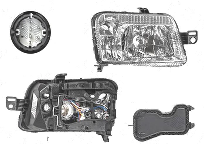 Far Fiat Panda (169), 09.2003-12.2012, fata, Dreapta, mufa cu 8 gauri; H4+PY21W+W5W; electric, BestAutoVest