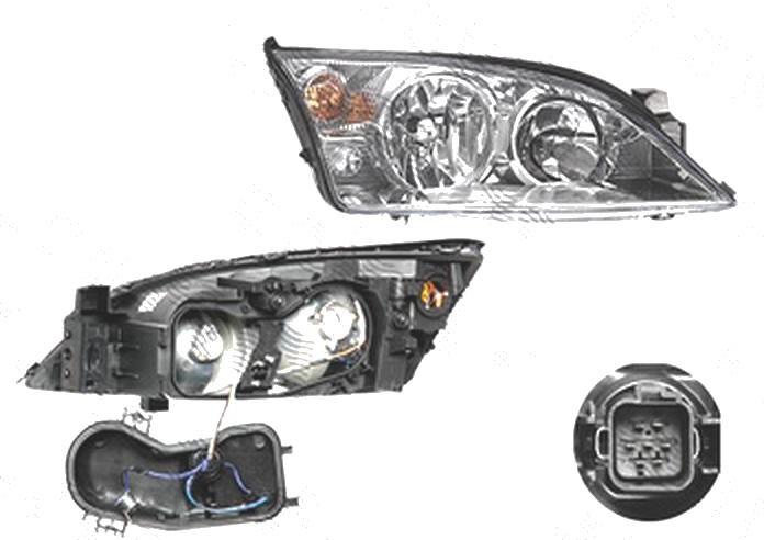 Far Ford Mondeo (B4y/B5y/Bwy), 10.2000-03.2007, fata, Dreapta, H1+H7+PY21W+W5W; electric; fara motoras, DEPO