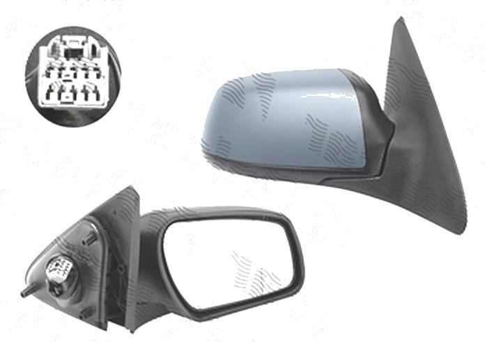 Oglinda exterioara Ford Mondeo (B4y/B5y/Bwy), 11.2003-03.2007, Dreapta, reglare electrica; grunduita; incalzita; geam convex; cromat