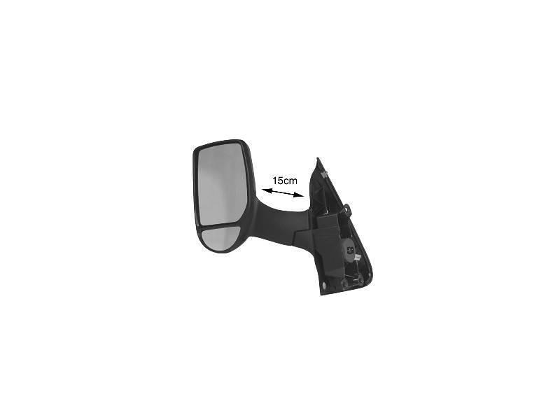 Oglinda exterioara Ford Transit/Tourneo (V347/8), 05.2006-04.2013, Transit (V184/5), 05.2000-04.2006, Dreapta, reglare manuala; carcasa neagra; geam convex; cromat; scurt, View Max
