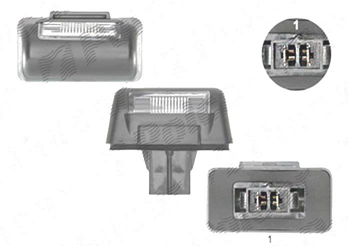 Lampa numar Ford Transit (Ve6), 10.1985-01.1991; Transit (Ve64), 01.1991-09.1994; Transit (Ve83/V184/5), 06.1994-2006, spate, Stanga = Dreapta, 2 usi spate, W5W; cu suport becuri; cu becuri, TYC