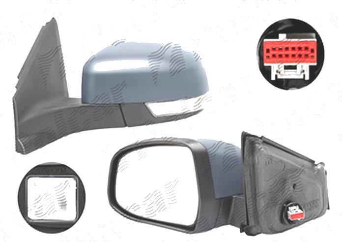 Oglinda exterioara Ford Mondeo (Ba7), 09.2010-02.2015, Stanga, reglare electrica; grunduit; incalzita; geam asferic; cromat; pliere electrica; cu semnalizare; cu lampa perimetru