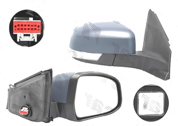 Oglinda exterioara Ford Mondeo (Ba7), 09.2010-02.2015, Dreapta, reglare electrica; grunduit; incalzita; geam asferic; cromat; pliere electrica; cu semnalizare; cu lampa perimetru