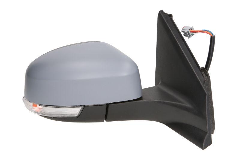 Oglinda exterioara Ford Mondeo (Ba7), 09.2010-02.2015, Dreapta, reglare electrica; grunduit; incalzita; geam convex; cromat; cu semnalizare