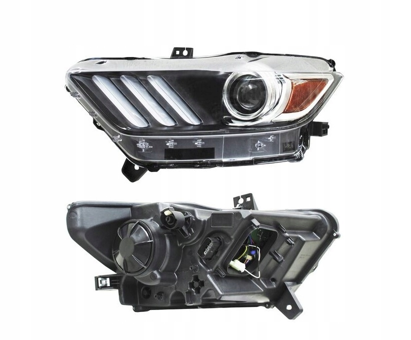 Far Ford Mustang, 01.2015-, fata, Stanga, xenon; Tip= USA; D3S+LED; manual; fara unitate control; fara ballast; omologare: SAE, TYC