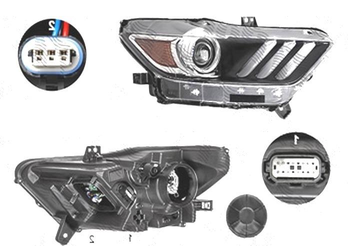 Far Ford Mustang, 01.2015-, fata, Dreapta, xenon; Tip= USA; D3S+LED; manual; fara unitate control; fara ballast; omologare: SAE, TYC