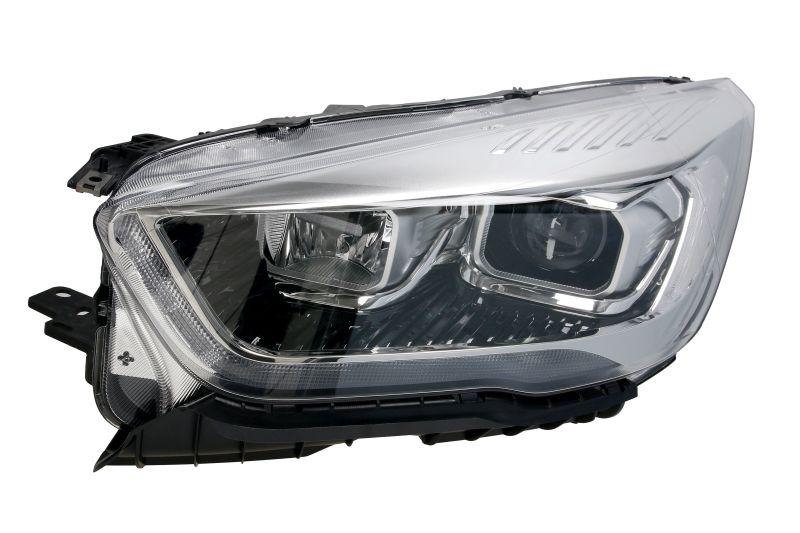 Far Ford Kuga, 02.2016-, fata, Stanga, bi-xenon; cu lumini de curbe; cu LED daytime running light; D3S+H1+LED; electric; negru, transparent cu alb insert, silver; cu motor, VALEO