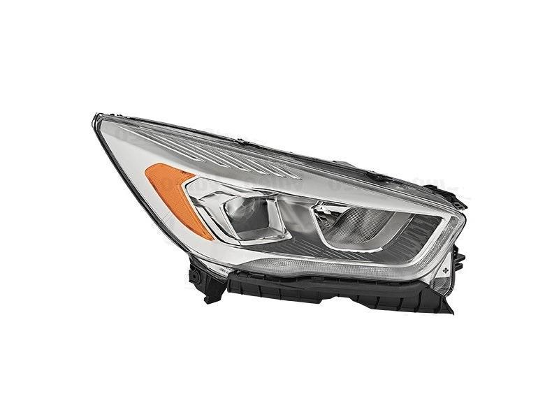 Far Ford Kuga, 02.2016-, fata, Dreapta, cu LED daytime running light; H1+H7+LED; electric; transparent cu galben insert; cu motor; cu becuri; cu LED control unit;