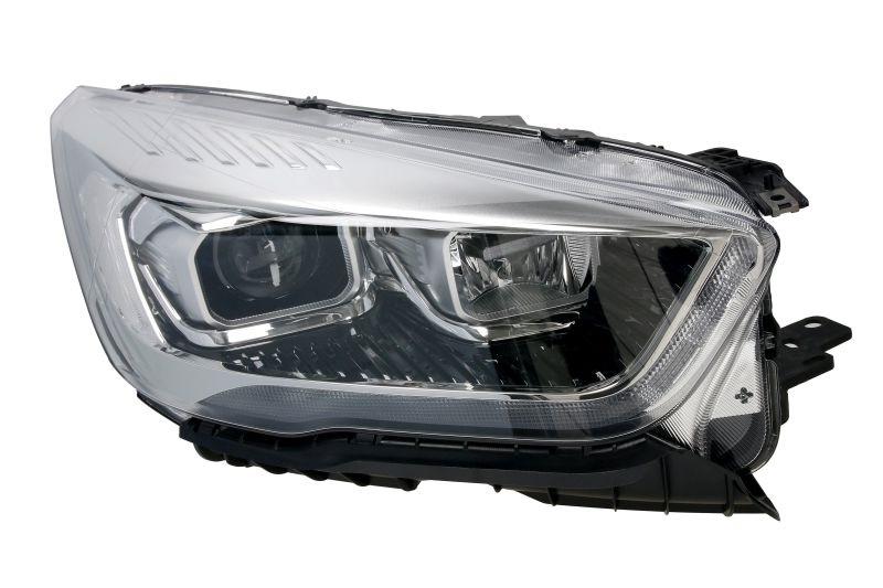 Far Ford Kuga, 02.2016-, fata, Dreapta, bi-xenon; cu lumini de curbe; cu LED daytime running light; D3S+H1+LED; electric; negru, transparent cu alb insert, silver; cu motor, VALEO