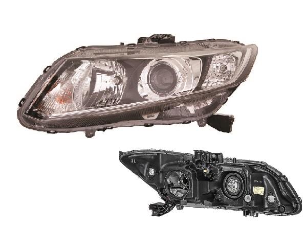 Far Honda Civic (Fb) Eu/Us Sedan/Coupe, 09.2011, fata, Stanga, SEDAN, xenon; D4S+HB3+W21/5W+WY21W; electric; fara unitate control; fara ballast; cu motor, DEPO